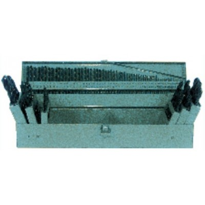 3 in 1 Combo Set (1/16-1/2 by 64ths / A-Z / 1-60) -Surface treated -115 Pc. HSS Jobber Drill Set