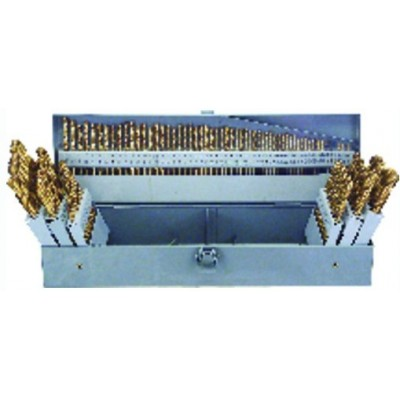 3 in 1 Combo Set (1/16-1/2 by 64ths / A-Z / 1-60) -115 Pc. M42 HD Jobber Drill Set