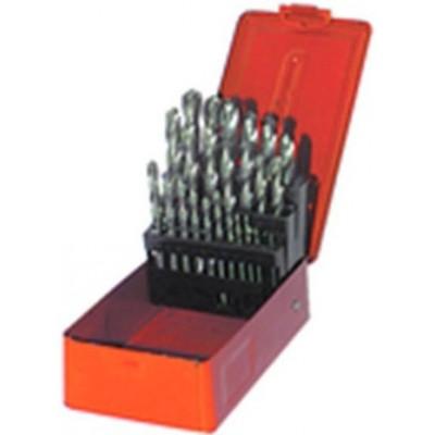 1mm - 13mm by .5mm -Bright Finish -25 Pc. HSS Jobber Drill Set (metric)