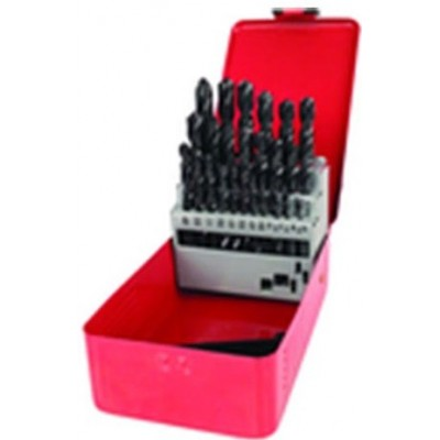 1/16 - 1/2 by 64ths -Surface treated -29 Pc. HSS Jobber Drill Set